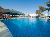 3家旅馆池游泳 图库摄影