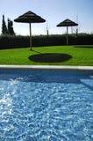 3家旅馆池游泳 免版税库存照片