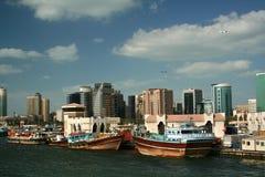 3小河迪拜地平线 库存图片