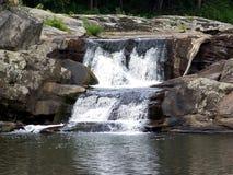 3座山瀑布 库存照片