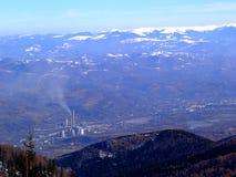 3座山雪 库存图片