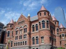 3座法院大楼老红色 库存照片