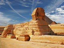 3座金字塔狮身人面象 免版税库存图片