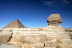 3开罗埃及吉萨棉极大的最近的零件狮身人面象 免版税库存图片
