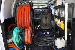 3张地毯清洁有篷货车 免版税库存照片