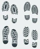 3打印穿上鞋子向量 免版税库存照片