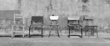 3把椅子倒空没有 免版税库存图片