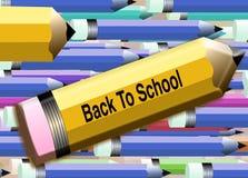3支回到铅笔学校 库存照片