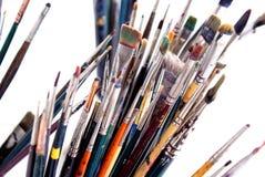 3支画笔画家s 免版税图库摄影
