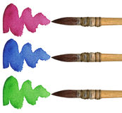 3支画笔 免版税库存照片