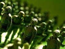 3支陆军绿色塑料 免版税库存图片