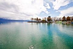 3日内瓦湖横向洛桑瑞士 库存照片