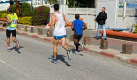 3时数马拉松步测器 免版税图库摄影