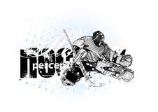 3曲棍球冰 免版税库存图片