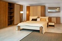3木的卧室 免版税库存图片