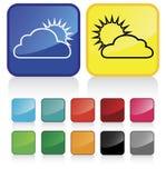 3朵云彩天气 库存图片