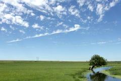 3朵云彩横向 图库摄影