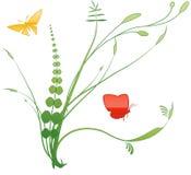 3朵花漩涡 向量例证