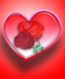 3朵重点爱玫瑰 库存图片