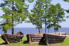 3条小船钓鱼 库存图片