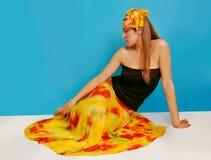 3条布裙妇女 免版税库存图片