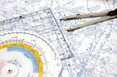 3条空中航线定位 免版税库存图片