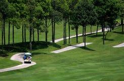 3条路线高尔夫球 库存照片