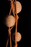 3条项链橙色珍珠黄色 库存照片