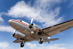 3架飞机dc被恢复的葡萄酒 库存照片
