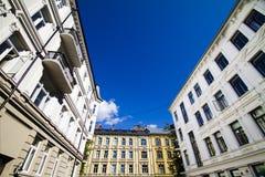 3栋公寓奥斯陆 免版税库存照片