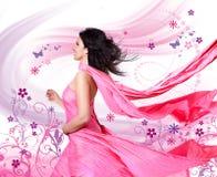 3桃红色风 库存图片