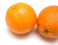 3桔子成熟全部 免版税库存照片
