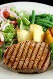 3棵牛排蔬菜 免版税库存照片