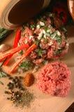 3棵肉蔬菜 免版税库存照片
