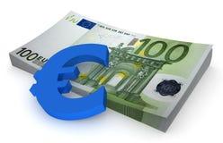 3欧元捆 免版税库存照片