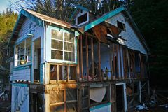 3残破的房子 免版税图库摄影