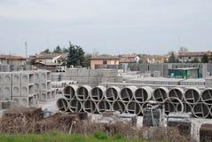 3混凝土工厂 库存图片