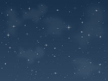 3满天星斗的晚上 库存图片