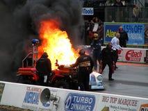 3灼烧的汽车阻力 免版税库存照片