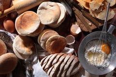 3烘烤的面包 库存图片