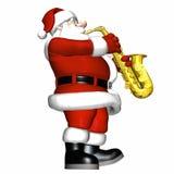 3爵士乐平稳的圣诞老人 图库摄影