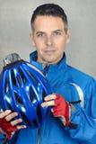 3确信的骑自行车者 免版税库存照片