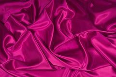 3种织品桃红色缎丝绸 免版税库存图片