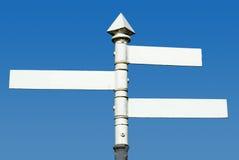 3空白方向被塑造的老路标方式 免版税库存图片