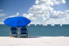 3空的海滩 免版税图库摄影