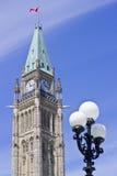 3编译的渥太华议会和平塔 免版税库存照片