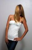 3美丽白肤金发匀称 免版税库存照片