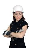 3美丽的建筑女性工作者 免版税库存照片