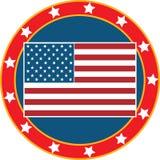 3美国国旗 库存例证