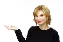 3美好的白肤金发的headshot 免版税库存照片